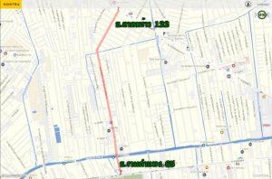 เส้นทางลัดเลี่ยงรถติดบริเวณโครงการรถไฟฟ้าสายสีส้ม
