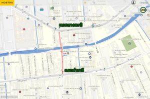 เส้นทางลัด เลี่ยงรถติดบริเวณโครงการรถไฟฟ้าสายสีส้ม