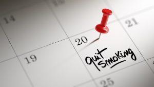 กำหนดเวลาเลิกบุหรี่ที่แน่นอน