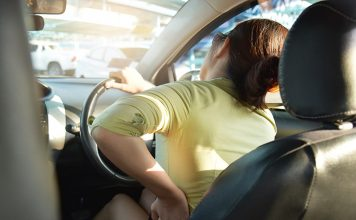 ขับรถปวดหลัง