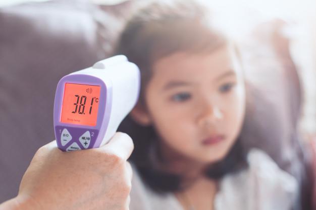 เครื่องวัดอุณหภูมิทางหน้าผาก